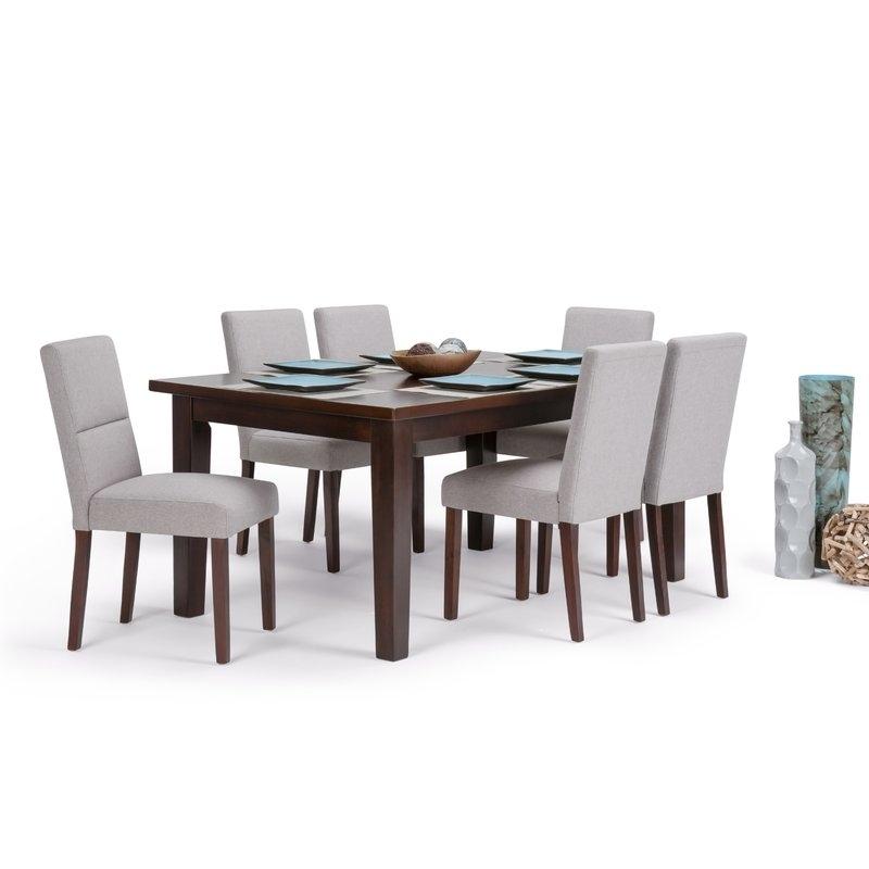 Simpli Home Ashford 7 Piece Solid Wood Dining Set | Wayfair Regarding Walden 7 Piece Extension Dining Sets (Image 21 of 25)