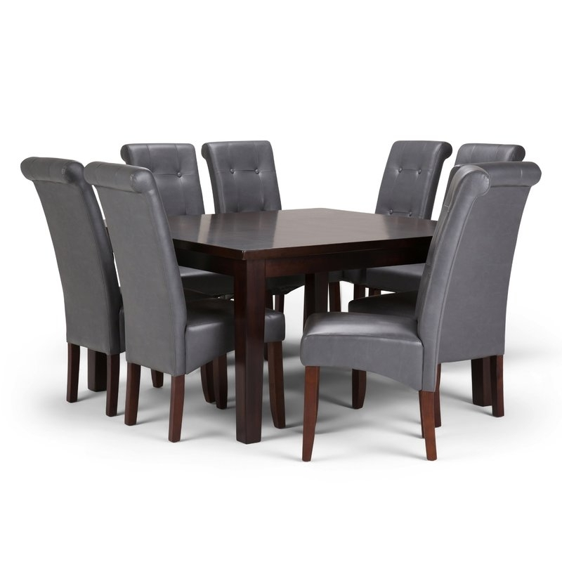 Simpli Home Cosmopolitan 9 Piece Dining Set | Wayfair Within Walden 7 Piece Extension Dining Sets (View 10 of 25)