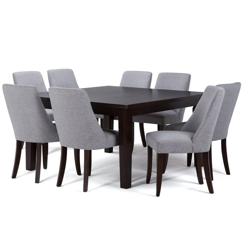 Simpli Home Walden 9 Piece Solid Wood Dining Set | Wayfair Intended For Walden Extension Dining Tables (Image 17 of 25)