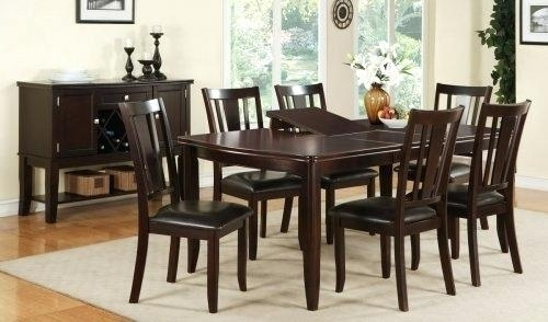 Six Chair Dining Room Set Inspire Contemporary Solid Wood Sets Ideas Pertaining To 6 Seater Round Dining Tables (View 10 of 25)