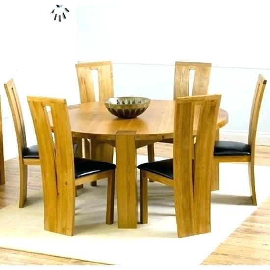 Six Seat Round Dining Table Round Glass Table Top Seating Pertaining To 6 Seat Round Dining Tables (Image 23 of 25)