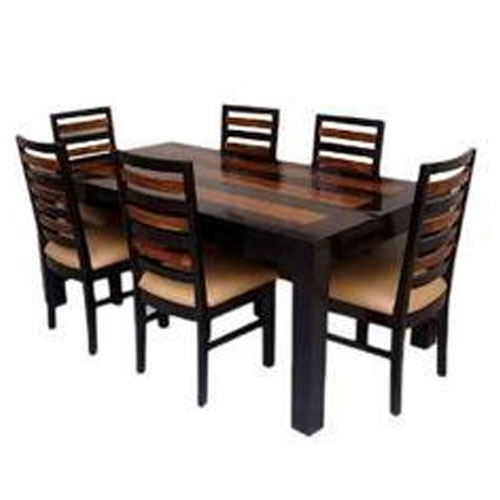 Six Seater Dining Table With 5 Years Warranty At Rs 25000 /set(S regarding Six Seater Dining Tables