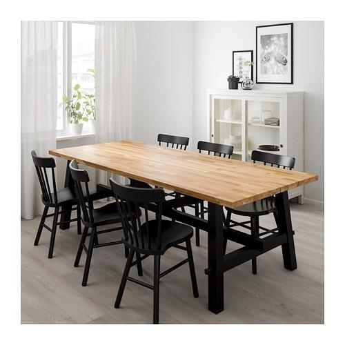 Skogsta Dining Table Acacia 235 X 100 Cm – Ikea Pertaining To Acacia Dining Tables (View 5 of 25)