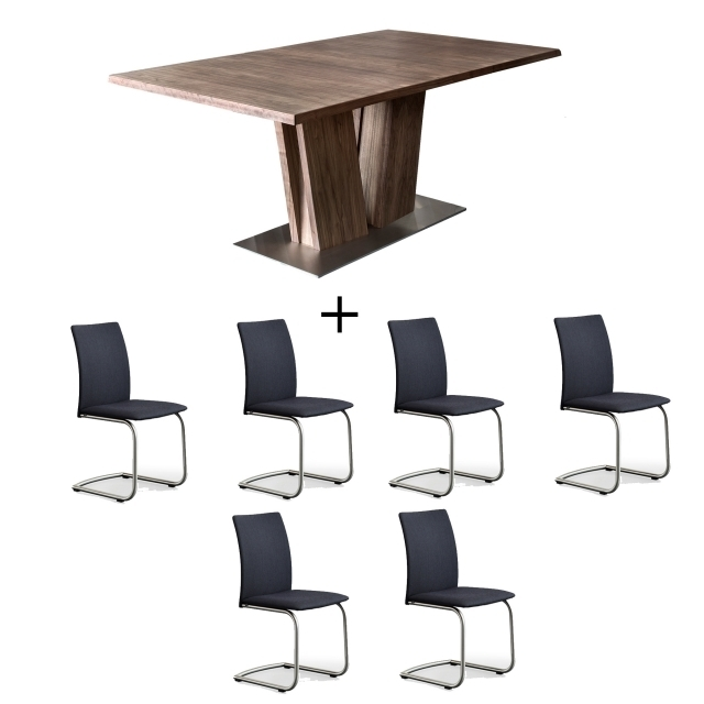 Skovby Walnut Dining Table And 6 Chairs – Dining Sets – Cookes Furniture With Walnut Dining Tables And 6 Chairs (Image 22 of 25)
