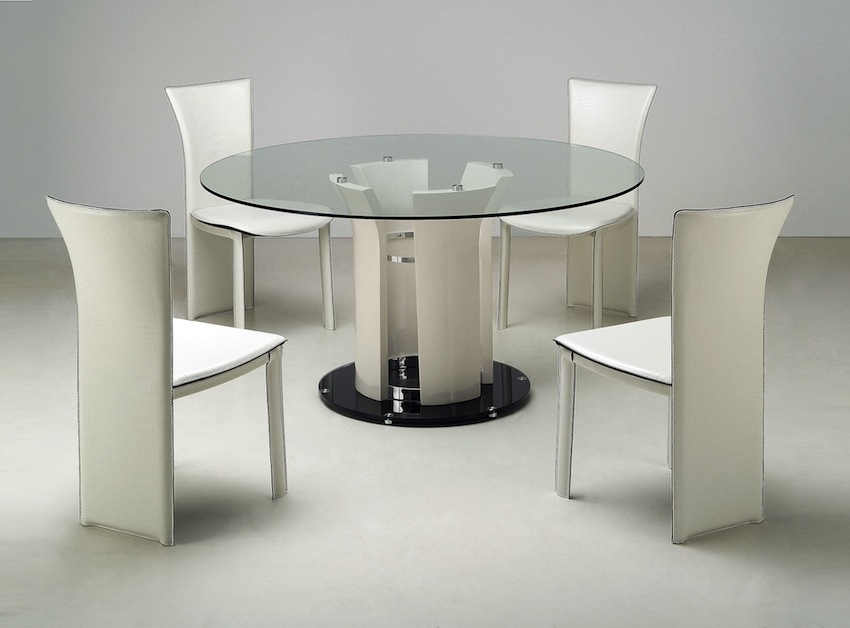 Sleek Round Glass Dining Tables That Make A Stylish Impression With Sleek Dining Tables (Image 21 of 25)