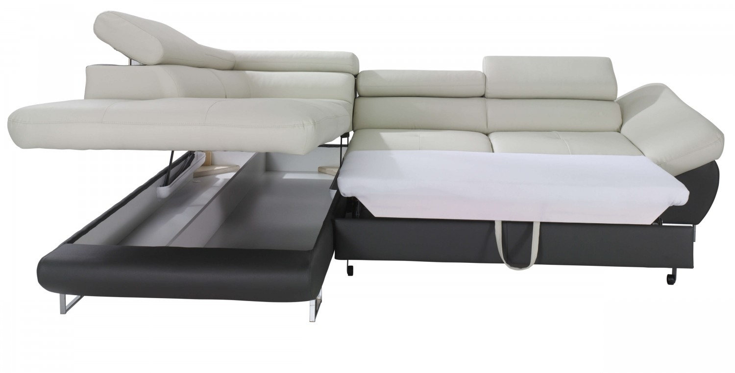 Sleeper Sofa With Chaise And Storage | Home And Textiles Within Taren Reversible Sofa/chaise Sleeper Sectionals With Storage Ottoman (Image 18 of 25)