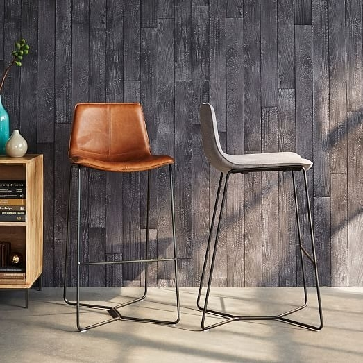 Slope Leather Bar + Counter Stools In 2018 | Dining Room | Pinterest Throughout Laurent 7 Piece Counter Sets With Upholstered Counterstools (Image 22 of 25)