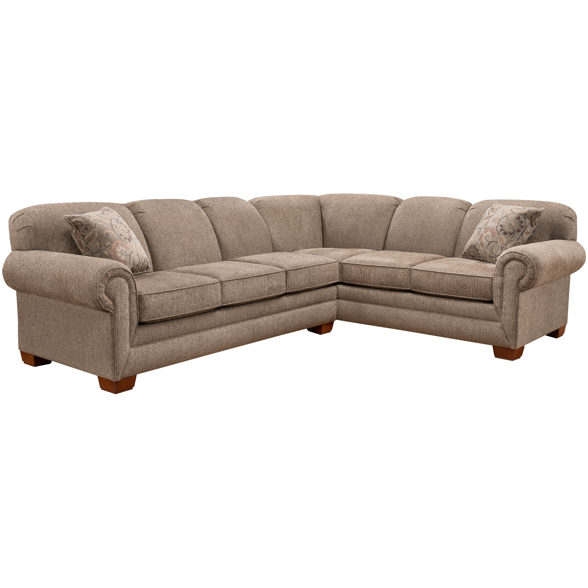 Slumberland Furniture | Tenor 2 Pc Brown Large Sectional With Regard To Harper Foam 3 Piece Sectionals With Raf Chaise (View 17 of 25)