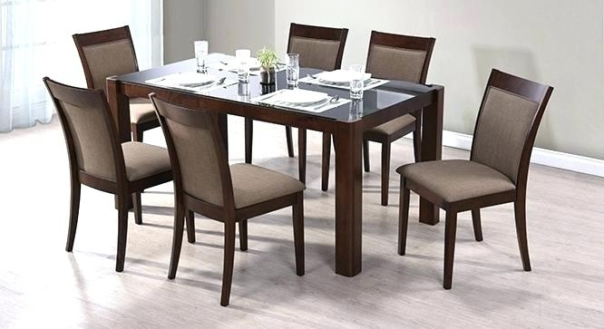 Small 6 Seater Dining Table Room Chair And Chairs Pedestal Square With Six Seater Dining Tables (Image 22 of 25)