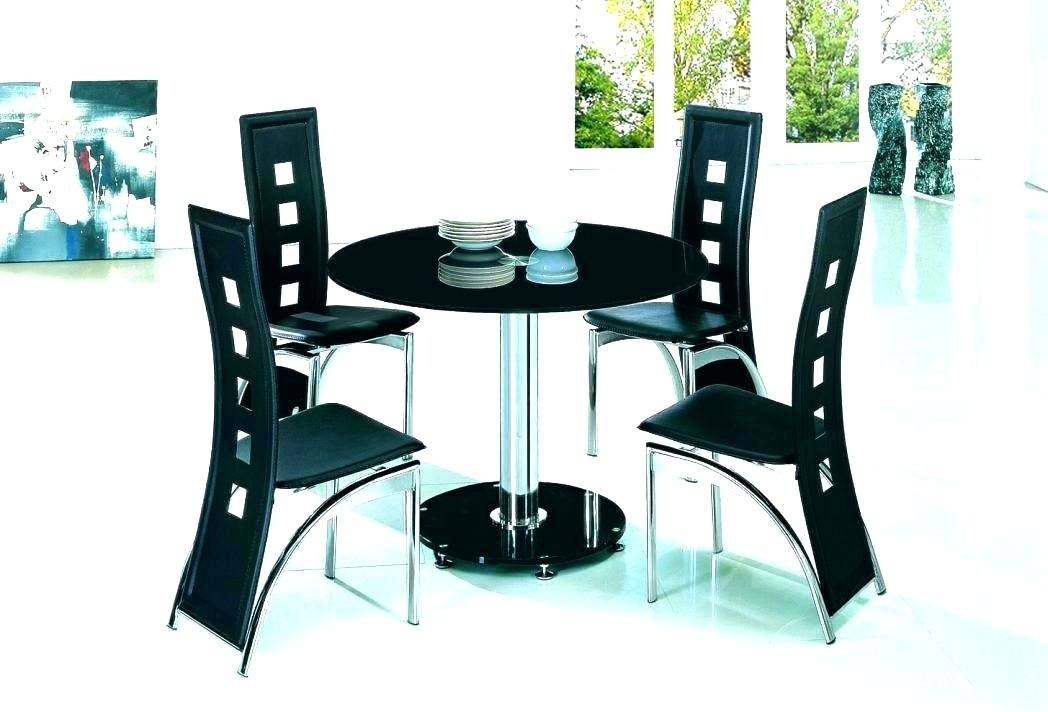 Small Black Dining Tables – Tinvietkieu Throughout Small Round Dining Table With 4 Chairs (Image 13 of 25)
