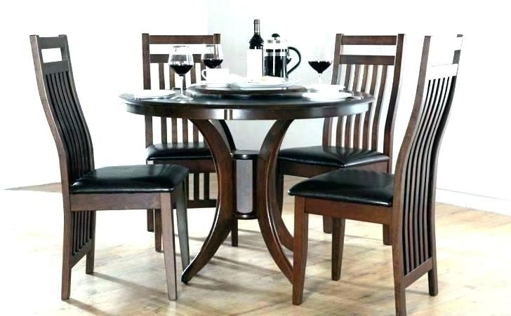Small Dark Wood Dining Table And 4 Chairs Wooden For Medium Size Of With Small Dark Wood Dining Tables (View 10 of 25)