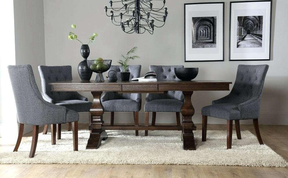 Small Dark Wood Dining Table Formal Room Square Flat Chairs Corner Within Dark Wood Dining Tables And Chairs (Image 22 of 25)
