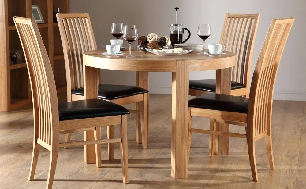 Small Dining Room Tables White Round Table And 4 Chairs Cheap Pertaining To Round Oak Dining Tables And 4 Chairs (View 12 of 25)