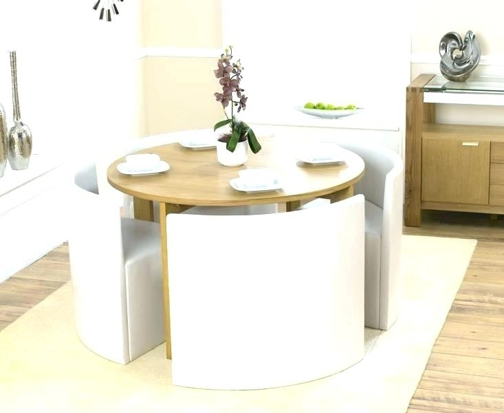 Small Dining Table And Chairs Round With 4 Amazing Of Set For Two 2 Regarding Compact Dining Sets (View 10 of 25)