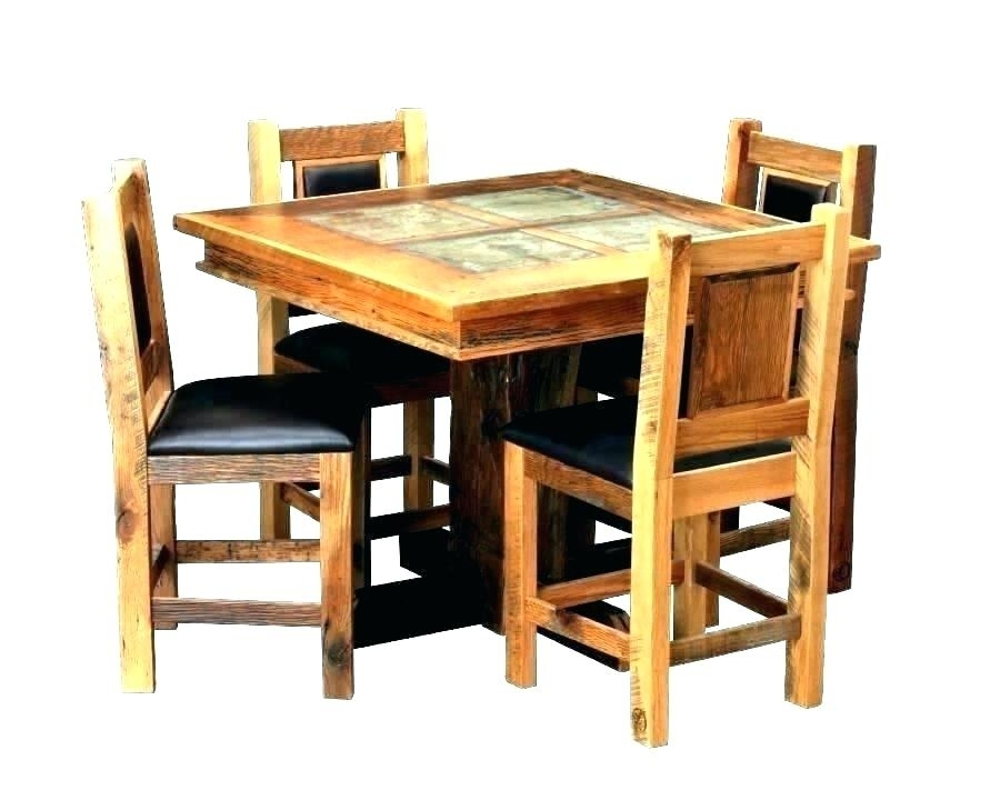 Small Dining Table Set Kitchen Sets Furniture Dark Wood And Chairs With Solid Dark Wood Dining Tables (View 17 of 25)