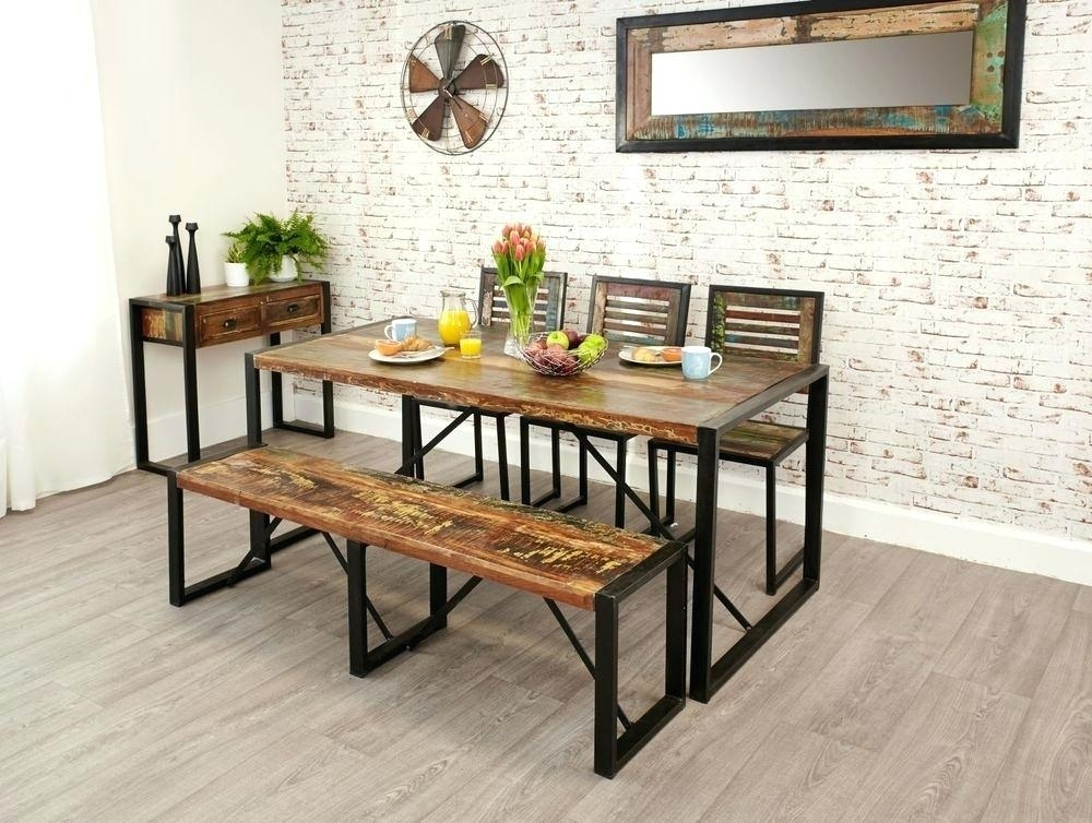 Small Dining Table With Benches – Burnbox (Image 22 of 25)