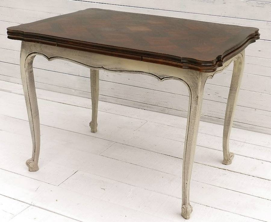 Small French Extending Dining Table Louis Xv Rev In From Tryst D'amour Inside French Extending Dining Tables (Image 23 of 25)