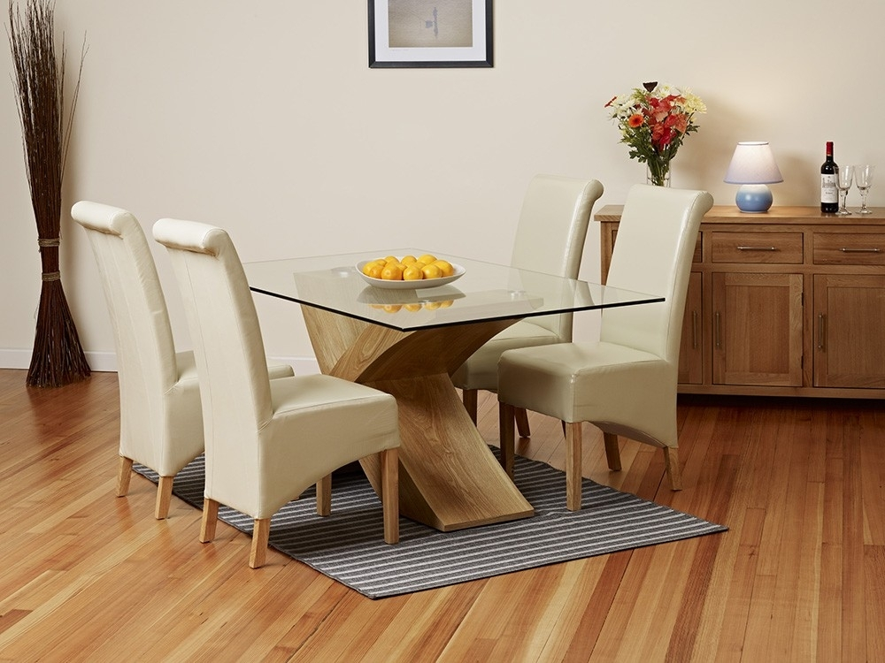 Small Glass Top Dining Room Tables – Glass Top Dining Room Tables Regarding Oak And Glass Dining Tables And Chairs (View 16 of 25)