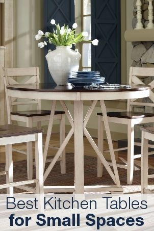 Small Kitchen & Dining Tables & Chairs For Small Spaces – Overstock Throughout Helms 5 Piece Round Dining Sets With Side Chairs (View 5 of 25)