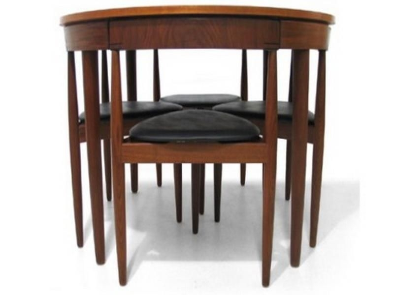 Small Kitchen Table Design Dining Room Round Wooden Dining Table For In Compact Dining Tables And Chairs (View 11 of 25)