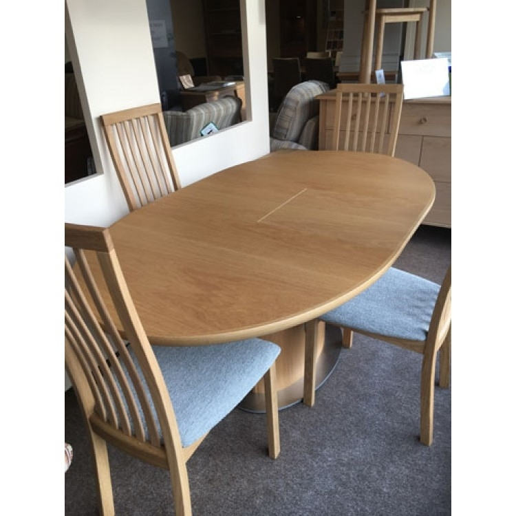 Small Oak Dining Table And Chairs | Skovby | Furniturebrands4U Pertaining To Oak Dining Suite (View 12 of 25)