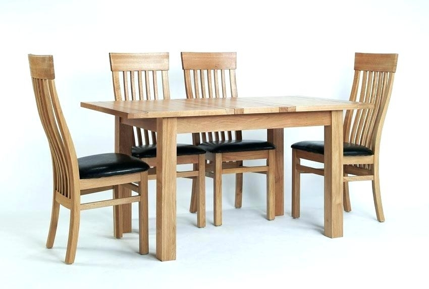 Small Oak Extending Dining Table And 4 Chairs Kitchen Room Design Pertaining To Small Extending Dining Tables And Chairs (View 10 of 25)