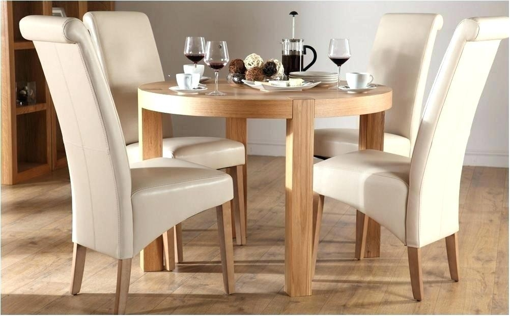 Small Round Black Glass Dining Table Tables Ikea For 4 Oak Chairs Throughout Oak And Glass Dining Tables And Chairs (Image 23 of 25)