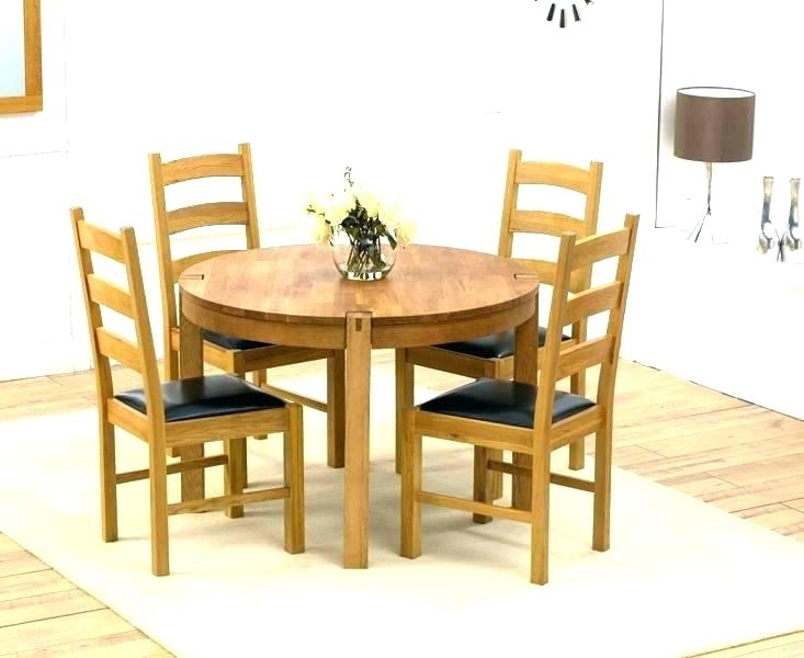 Small Round Black Kitchen Table And Chairs Dining Tables Circle Intended For Circular Dining Tables For  (Image 22 of 25)
