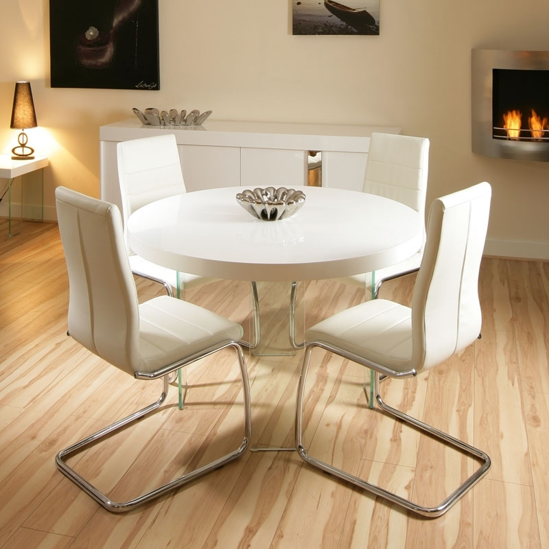 Small Round Cream Kitchen Table — Batchelor Resort Home Ideas Within Cream High Gloss Dining Tables (Image 18 of 25)