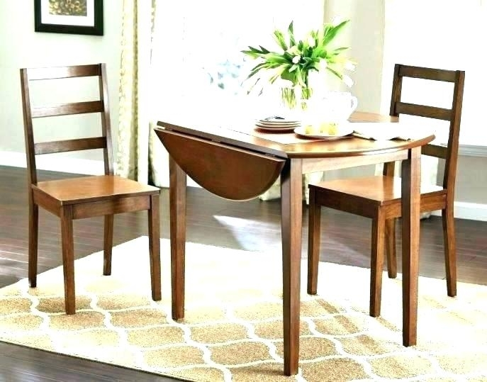 Small Round Dining Table Set For 2 Cool Ideas With Leaf Extensions Regarding Dining Table Sets For (View 20 of 25)