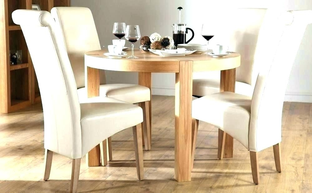Small Round Kitchen Table And 4 Chairs – Lovingheartdesigns Inside Grady Round Dining Tables (View 20 of 25)