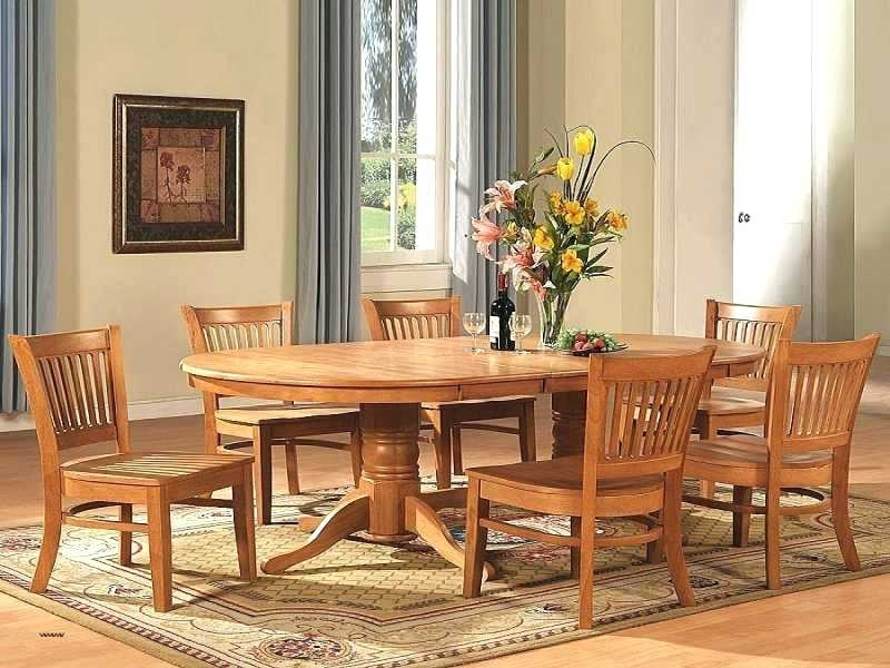 Small Round Oak Dining Table And Chairs 2 8 Chair Lovely Kitchen Pertaining To Glass And Oak Dining Tables And Chairs (View 22 of 25)