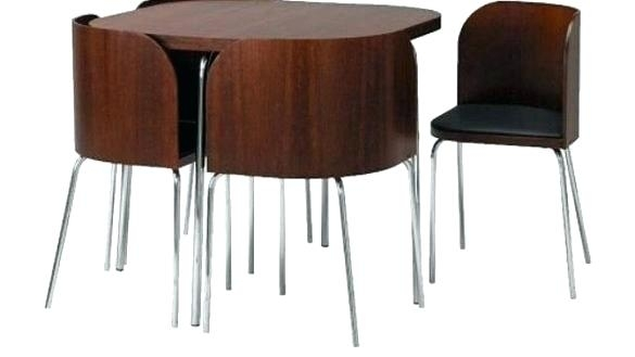 Small Round Table With 4 Chairs Surprising Small Glass Dining Table In Compact Dining Room Sets (Image 24 of 25)