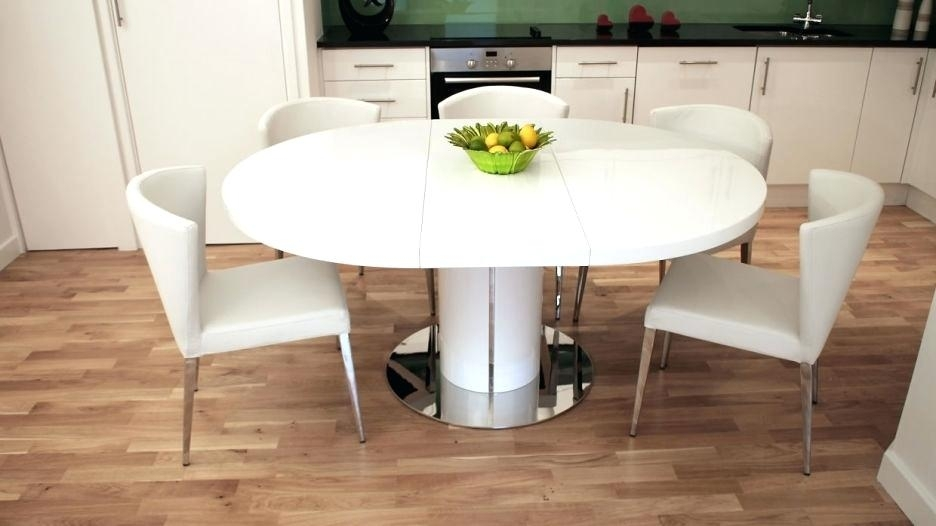 Small Round White Dining Table Odyssey White Dining Table Small With Regard To Small Round White Dining Tables (Image 17 of 25)