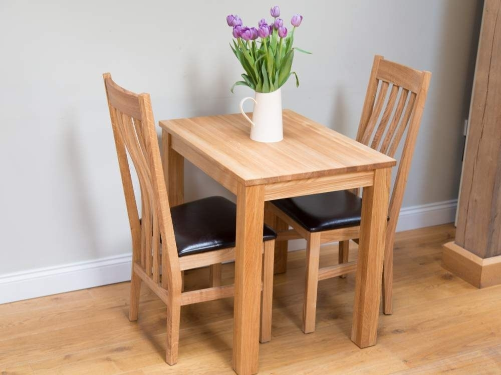 Small Solid Oak Dining Table | Cheap 2 Seater Kitchen Table | Home Throughout Small Oak Dining Tables (View 2 of 25)