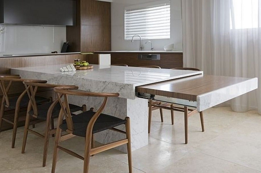Small Space Solutions: Hidden Kitchen From Minosa Design : Unique Regarding Extending Marble Dining Tables (Image 20 of 25)