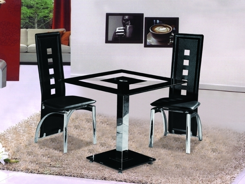 Featured Photo of Square Black Glass Dining Tables