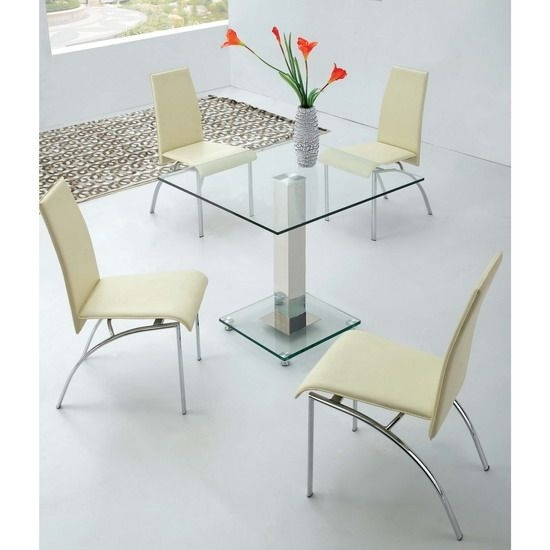 Small Square Extending Dining Table 90 Best 4 Seater Glass Dining With Small Square Extending Dining Tables (Image 17 of 25)