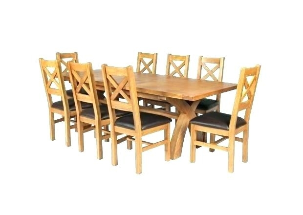 Small Square Oak Extending Dining Table 8 Seater And Chairs Country In Small Square Extending Dining Tables (Image 18 of 25)