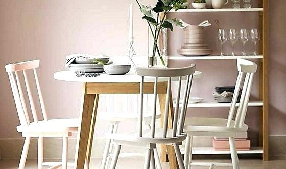 Small White Dining Set Table With Floor Protectors Round Breakfast For Small Round White Dining Tables (Image 20 of 25)