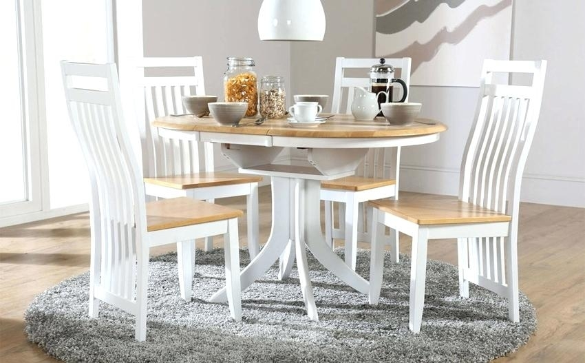Small White Extending Dining Table White Small White Gloss Extending With Small White Extending Dining Tables (Image 21 of 25)
