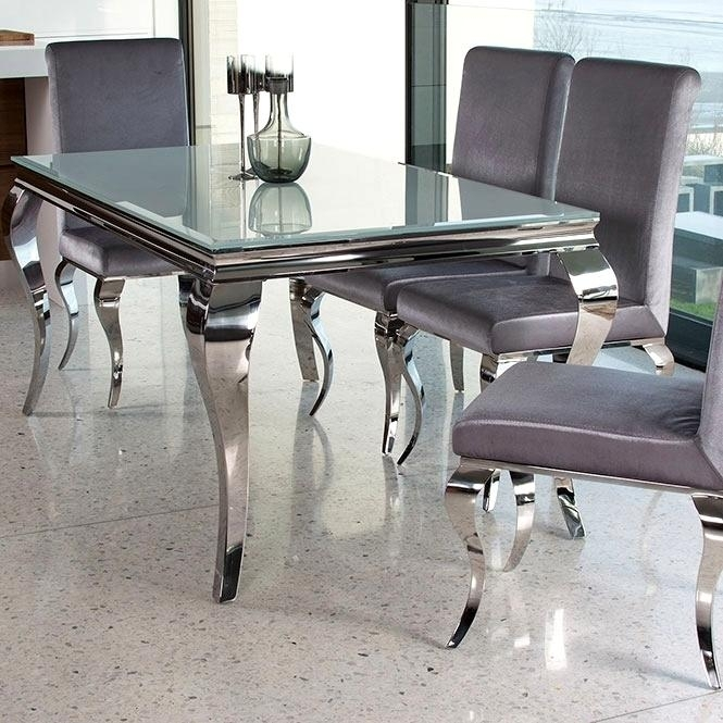 Smart Chrome Glass Dining Table Chrome Dining Table Dining Table Throughout Chrome Glass Dining Tables (Image 19 of 25)