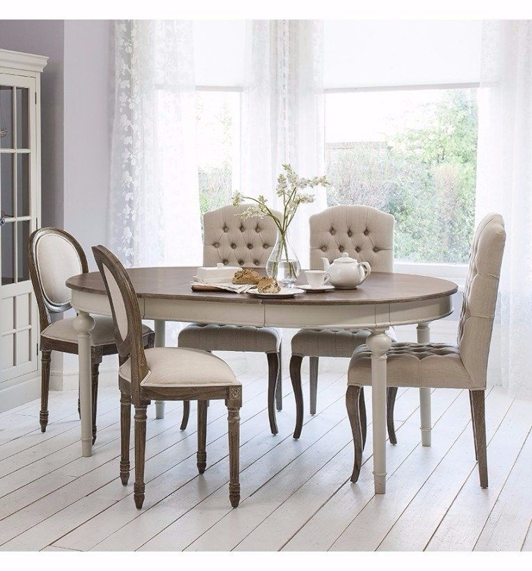 Smiths Maison Round Extending Table Cool Grey – Dining Tables For Dining Extending Tables And Chairs (Image 22 of 25)