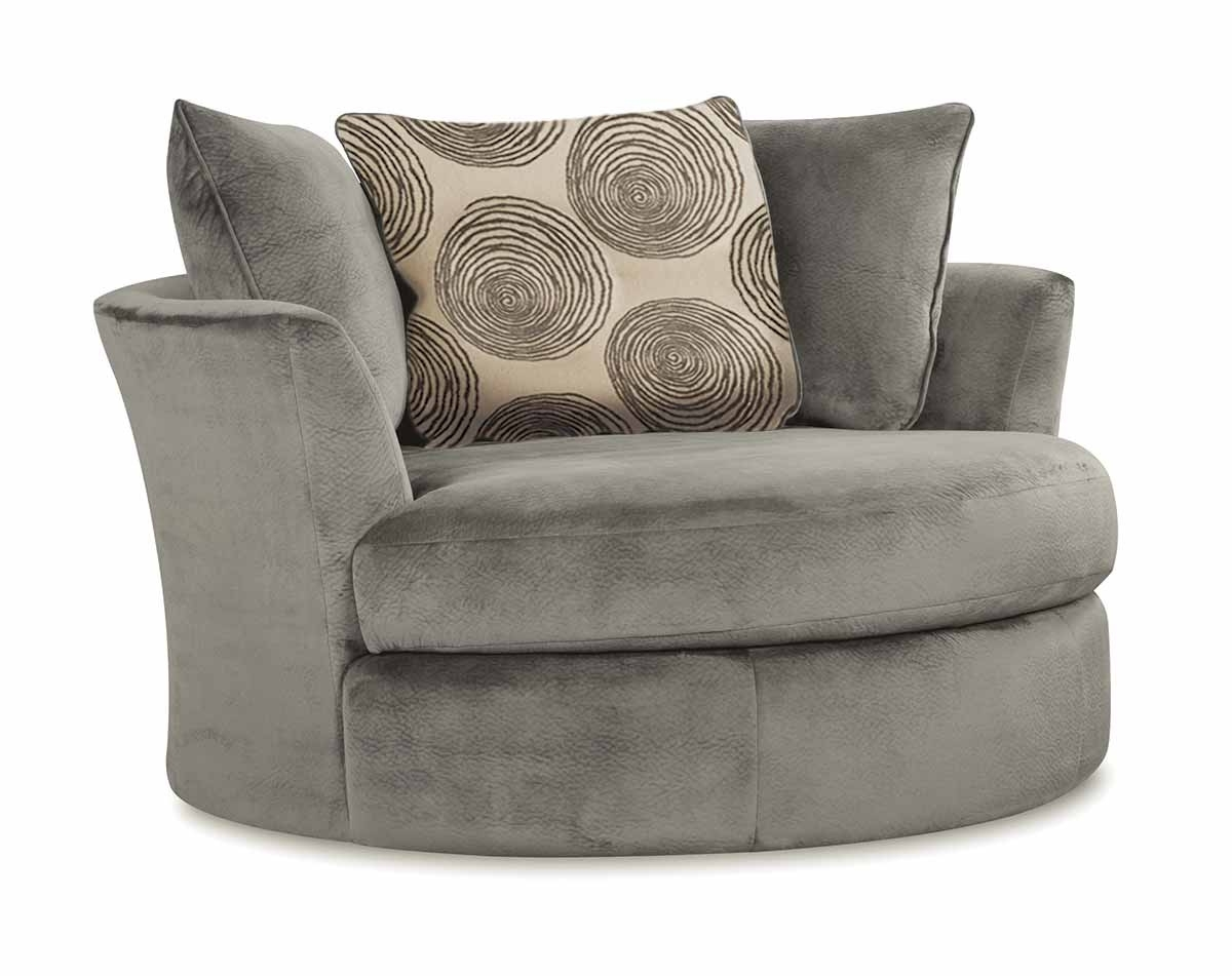 Smoke Gray 2 Piece Microfiber Sectional Sofa | American Freight For Lucy Dark Grey 2 Piece Sleeper Sectionals With Raf Chaise (Image 24 of 25)