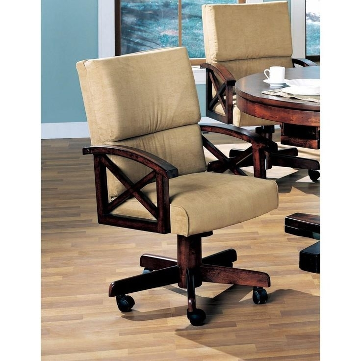Snug Upholstered Arm Game Chair , Brown In 2018 | Products | Pinterest Inside Norwood 9 Piece Rectangular Extension Dining Sets With Uph Side Chairs (Image 22 of 25)