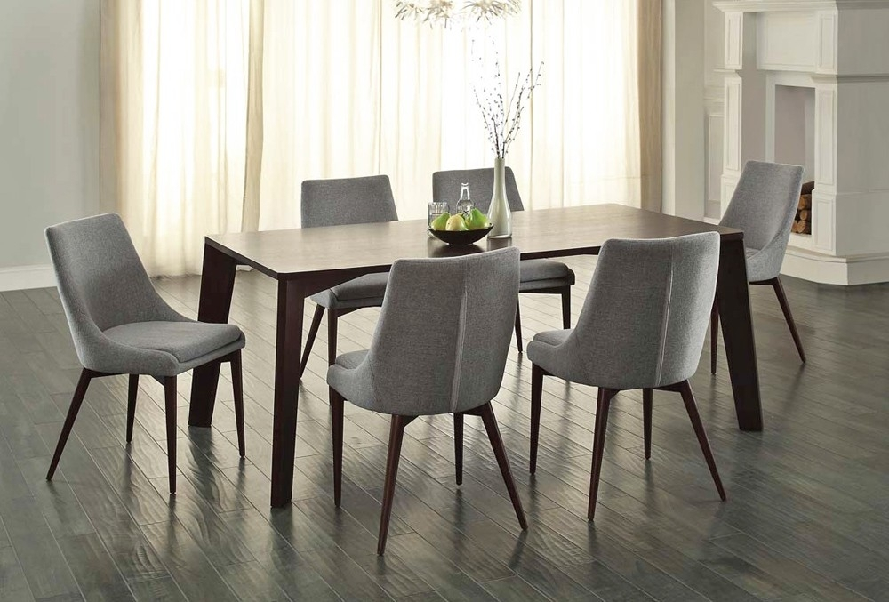 Sober And Elegant Modern Dining Room Set — Bluehawkboosters Home Design Inside Cheap Dining Room Chairs (View 15 of 25)