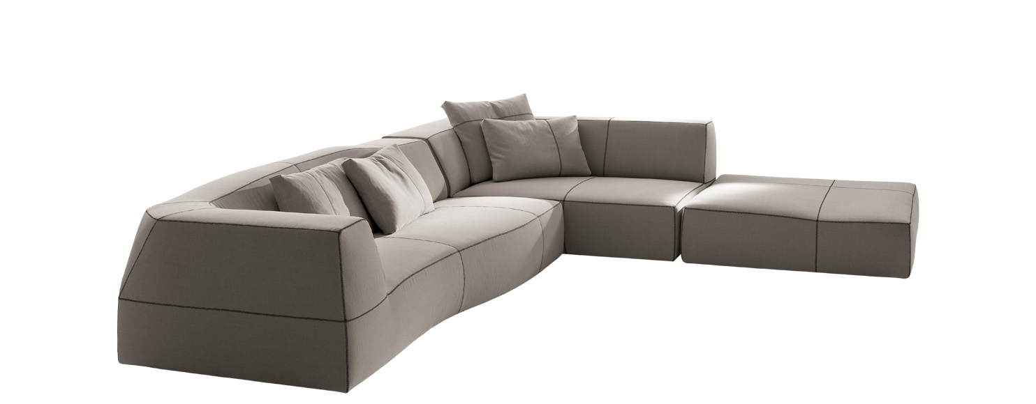 Sofa Bend Sofa  B&b Italia – Designpatricia Urquiola For Norfolk Grey 6 Piece Sectionals (Image 23 of 25)