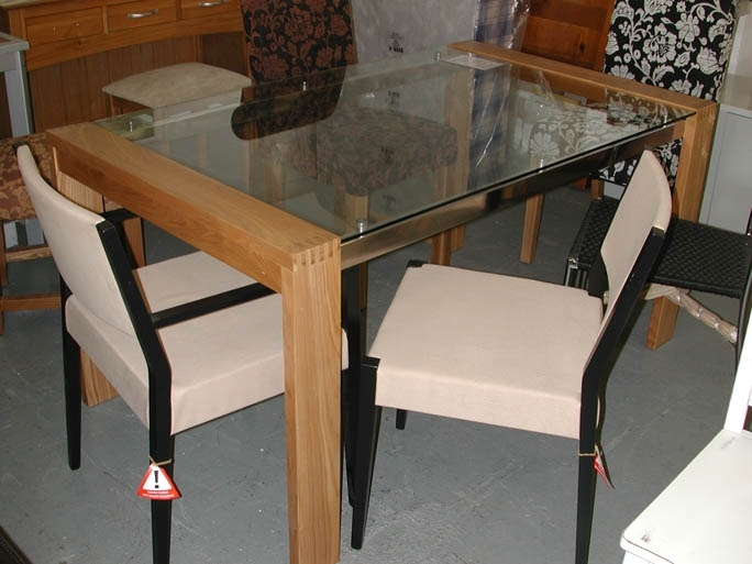 Sofa Sale | Famous Furniture Clearance | Dining Furniture With Regard To Oak Glass Dining Tables (Image 24 of 25)