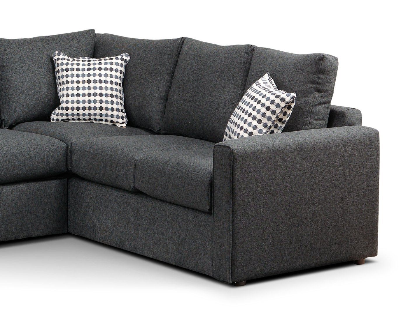 Sofa Sectional | Nokomis Charcoal Laf Sectional For Aquarius Light Grey 2 Piece Sectionals With Laf Chaise (Image 23 of 25)