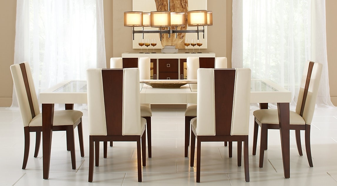 Sofia Vergara Savona Ivory, 7 Pc Rectangle Dining Room Set With Regard To Crawford 7 Piece Rectangle Dining Sets (View 16 of 25)